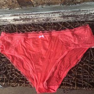 NWT: Victoria's Secret, L HipHugger Coral Panties